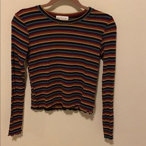 Colorful Striped long sleeve tee